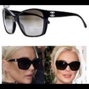 23a150d08d95d CHANEL Accessories - Chanel CC cat-eye glitter 5203 sunglasses black
